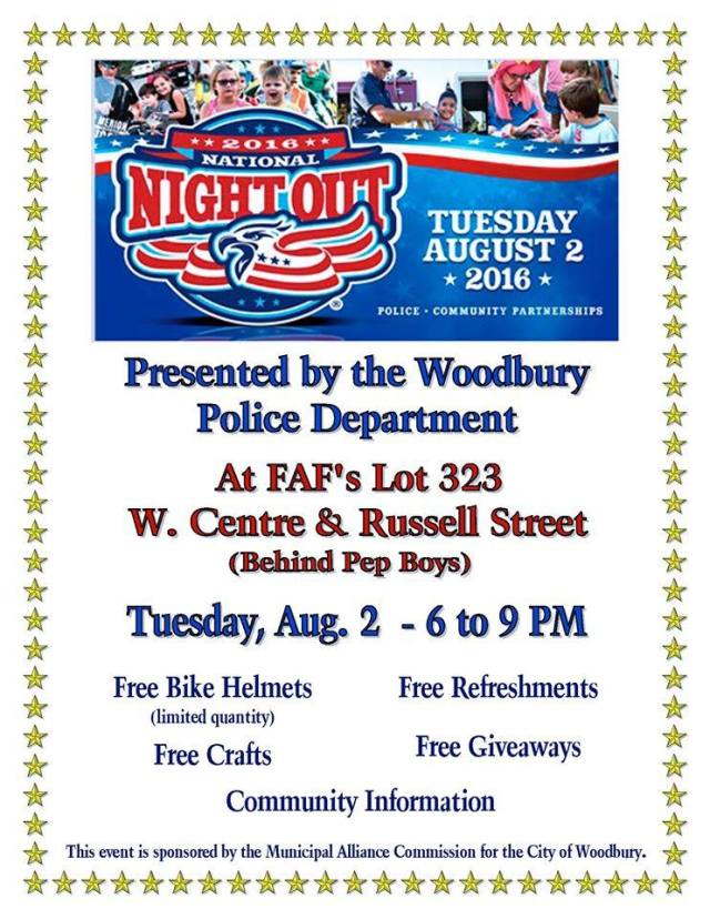 National Night Out in Woodbury NJ